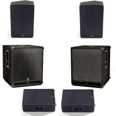 Full XP1000L system with stereo mains and subwoofers plus monitors
