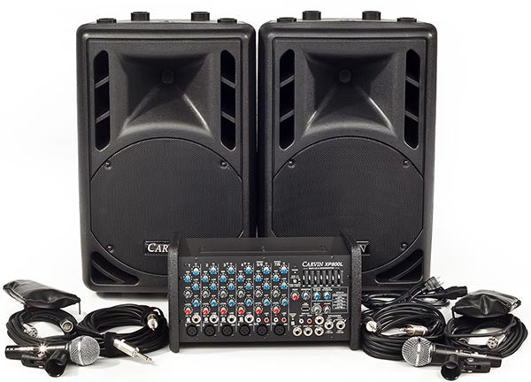 Carvin Audio XP800L-PM10 Powered Sound System Package