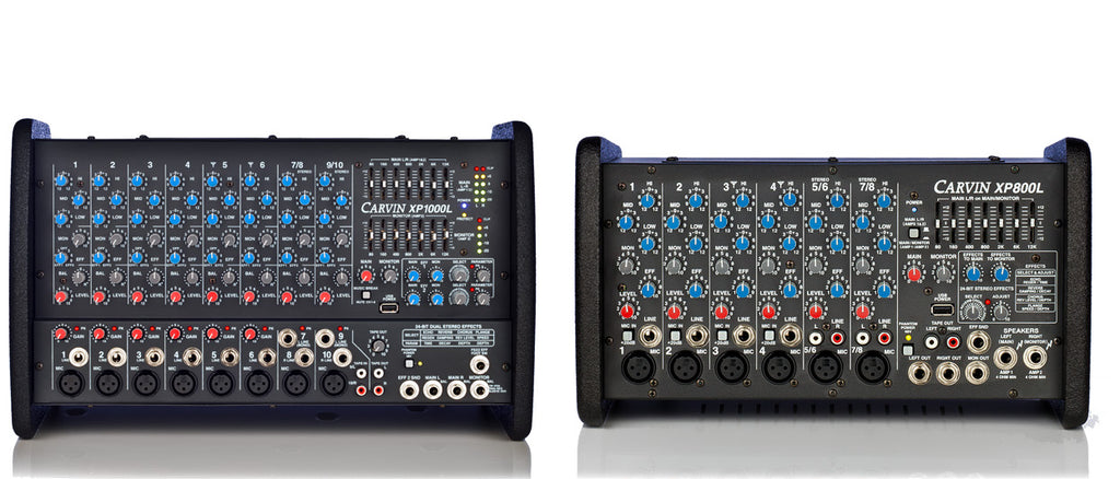 XP1000L and XP800L power mixers