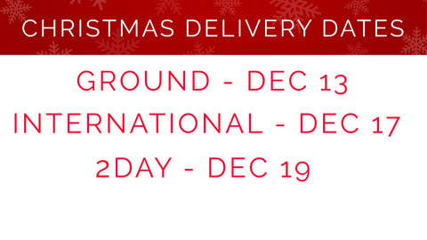 Carvin Christmas delivery dates