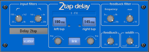 2Tap Delay- I Live QU FX & Processing from Allen&Heath for the QU Series Digital Mixing Consoles