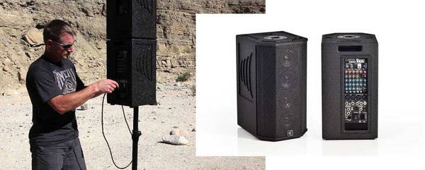 S600B column array technology in a 400W portable package and battery power.