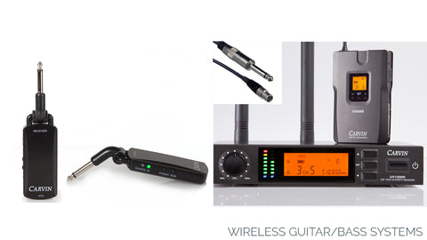 carvin guitar and bass wireless systems