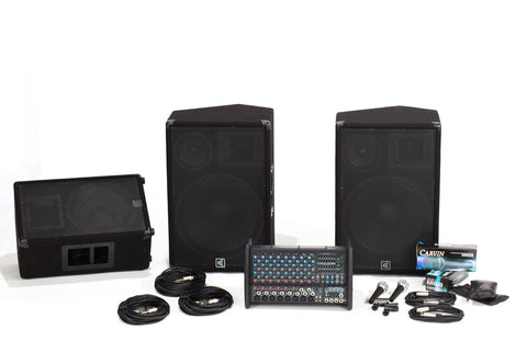 Carvin Audio XP1000L-153-112 Powered Sound System Package with Monitor Package
