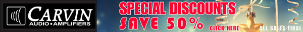 carvin special sales discounts save 50%