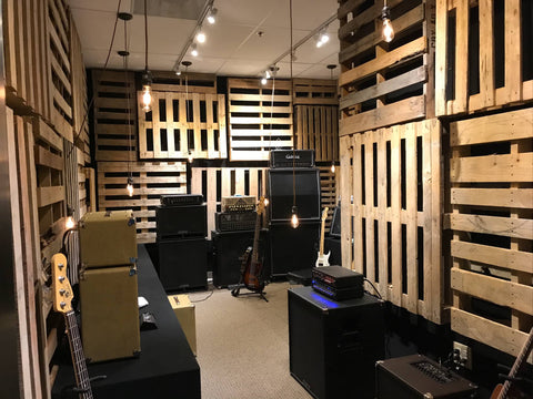Carvin Audio Guitar and Bass Amp Demo Room