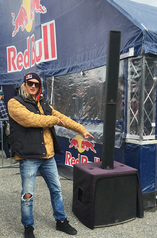 carvin trc400a column array at red bull event