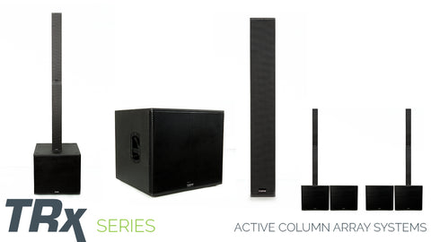 carvin trx series column array and active subwoofer systems