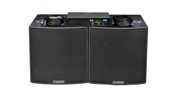 Carvin Audio TRX SUB2 Sub woofer package with DCM3800Lx Power Amplifier