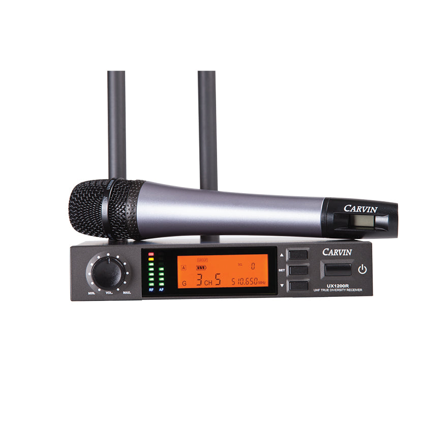 carvin ux1200mc hand held wireless microphone