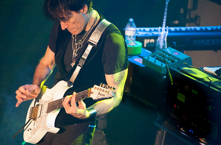Steve Vai in concert using the Carvin Legacy Drive VLD1 Tube Preamp pedal