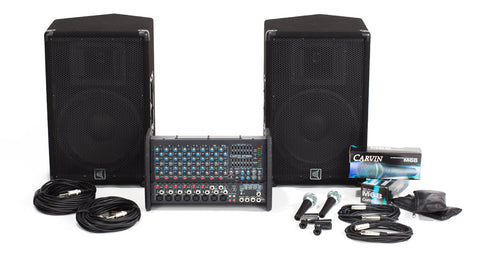 Carvin Audio XP1000L-112 Powered Sound System Package