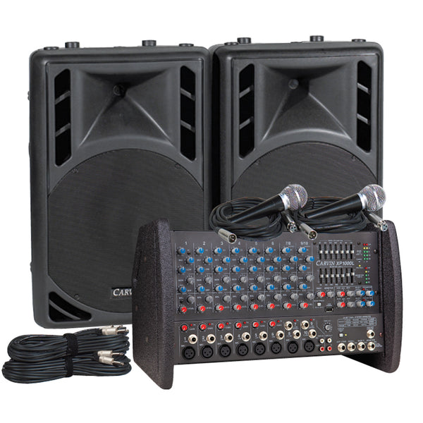 Carvin Audio XP1000L-PM12 Powered Sound System Package