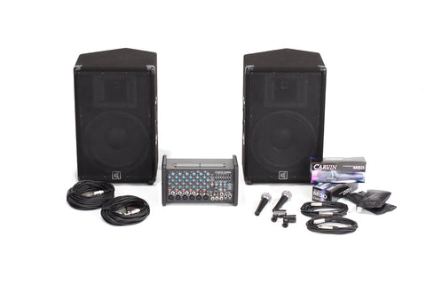 Carvin Audio XP800L-112 Powered Sound System Package