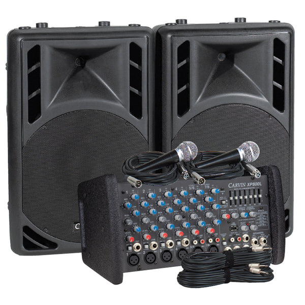 Carvin Audio XP800L-PM12 Powered Sound System Package