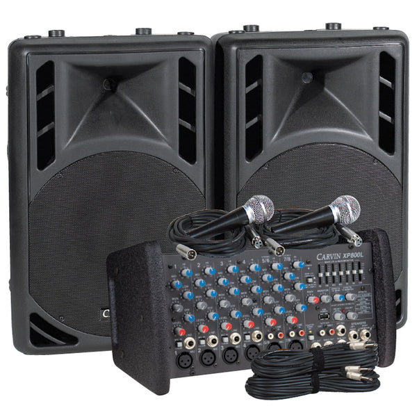 Carvin Audio XP800L-PM15 Powered Sound System Package