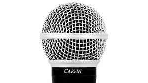 Carvin M50 Dynamic Vocal Microphone with built in wind and pop filter