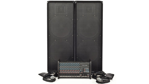 RX1200L-2153 1600W 12 Channel Complete PA System