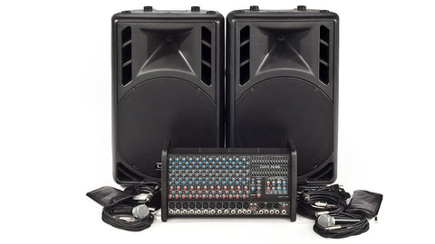 RX1200L-PM15 1600W 12 Channel Complete PA System