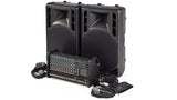 RX1200L-PM15 1600W 12 Channel Complete PA System Angled Far