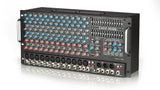 RX1200R Non-Powered 12 Channel Rackmount Stereo Mixer Angled