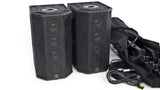 S600B-2 Battery Powered 400W(Stereo) Portable Column Array System Package Angled