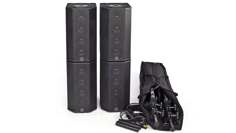 S600B-4 Battery Powered 400W(Stereo) Portable Column Array System Package
