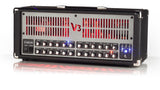 V3 100W 3 Channel All Tube Amp w/ LED Backlighting & Reverb Red
