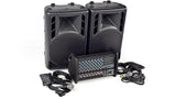 XP1000L-PM12 8 Channel PA System Top Angled
