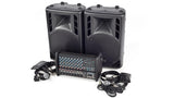 XP1000L-PM12 8 Channel PA System Front Angled