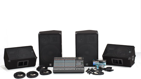 C1648P-153-112 16 Channel PA with 3-Way Speaker System and Monitor Package