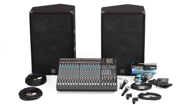 C1648P-153 16 Channel PA with 3-Way Speaker System