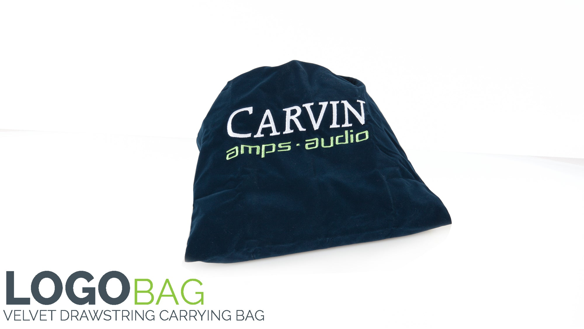 carvin drawstring carrying bag with logo