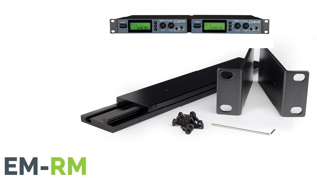carvin em900 1U dual rack mount kit for 2 EM900 in ear monitor receivers