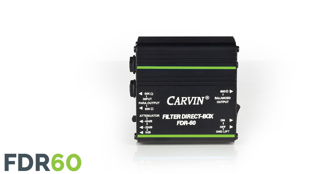 Carvin FDR60 Filter Direct Box for acoustic guitar