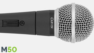 Carvin M50 Dynamic Vocal Microphone with 20' cable and mic clip