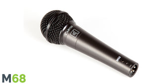 Carvin M68 Dynamic Vocal Microphone with 20' cable and mic clip