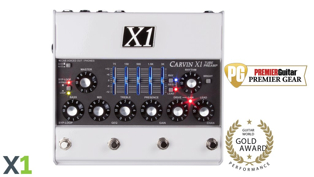 carvin x1 tube preamp pedal made in usa
