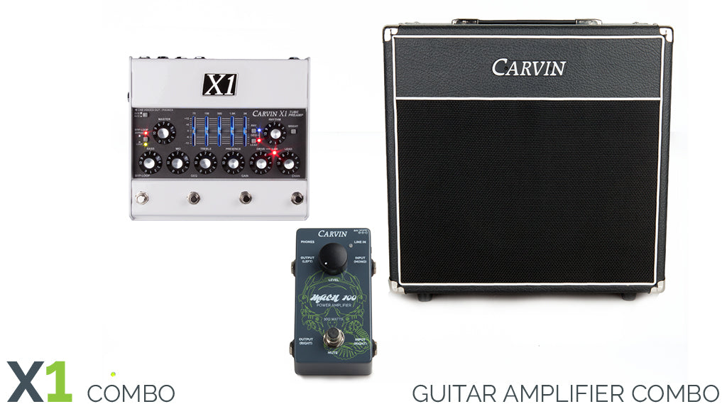 Carvin X1 tube preamp combo with 100W amplifier and 1x12 guitar cabinet