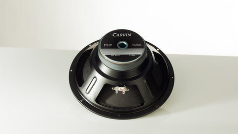 "Carvin PS12-8 12"" speaker part is a 12-inch 8 ohm 300 Watt woofer front view"