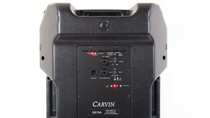 carvin qx15a 1000 watt active loudspeaker system rear view