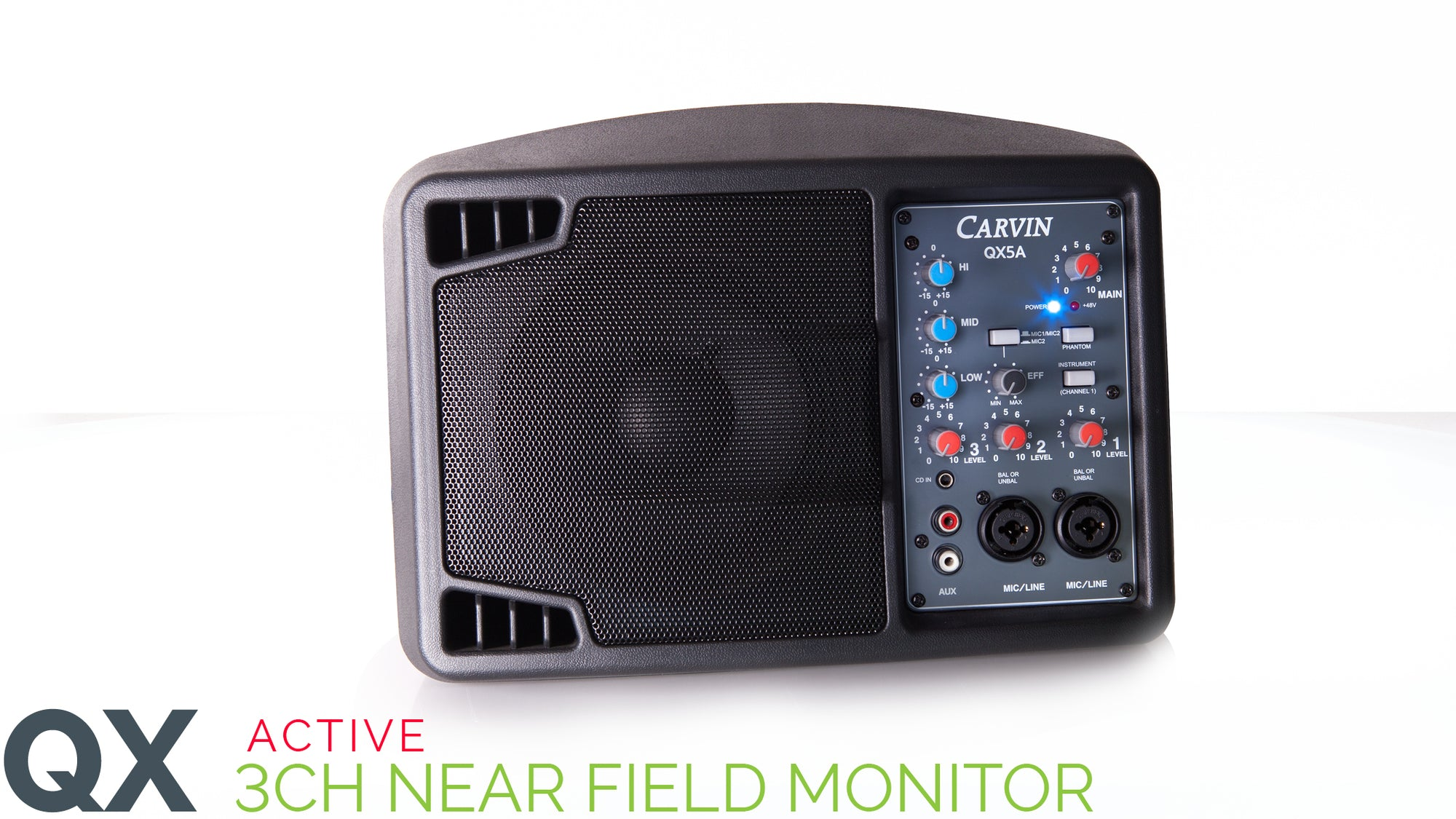 Carvin QX5A Active 3 Channel Hotspot Monitor with mixer