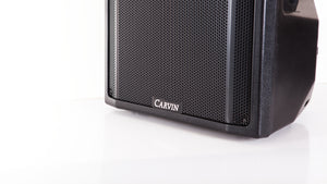 carvin qx15 15-inch passive loudspeaker system logo up close