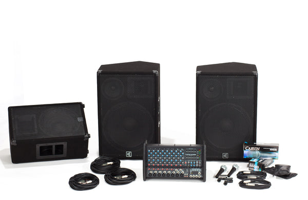 XP1000L-153-112 10 Channel PA with 3-Way Speaker System and Monitor Package