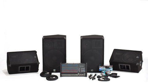 RX1200L-153-112 12 Channel PA with 3-Way Speaker System and Monitor Package