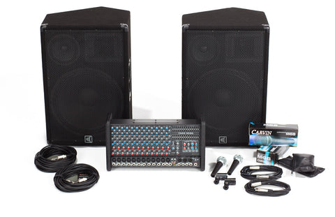 RX1200L-153 12 Channel PA with 3-Way Speaker System