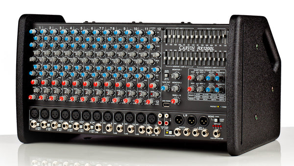 Rx1200l Lightweight Stereo Powered 1600w 12 Channel Mixer