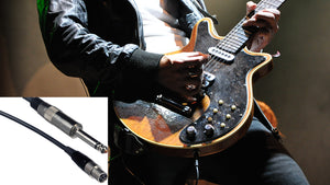 Carvin ux-gt 1/4-inch guitar cable with 4 pin connector for ux600b wireless body pack and ux1200b wireless system
