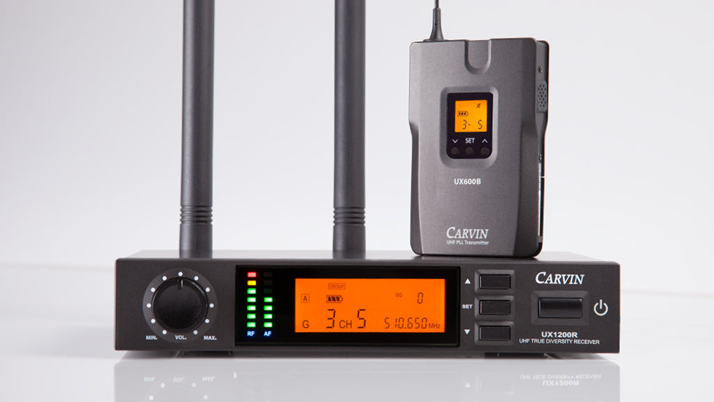 Carvin UX1200B wireless body pack system front view