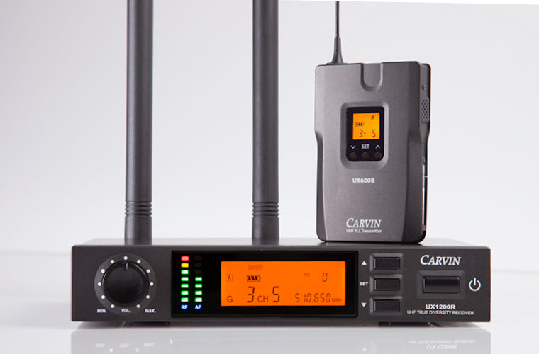Carvin ux1200lp1 wireless lapel microphone system
